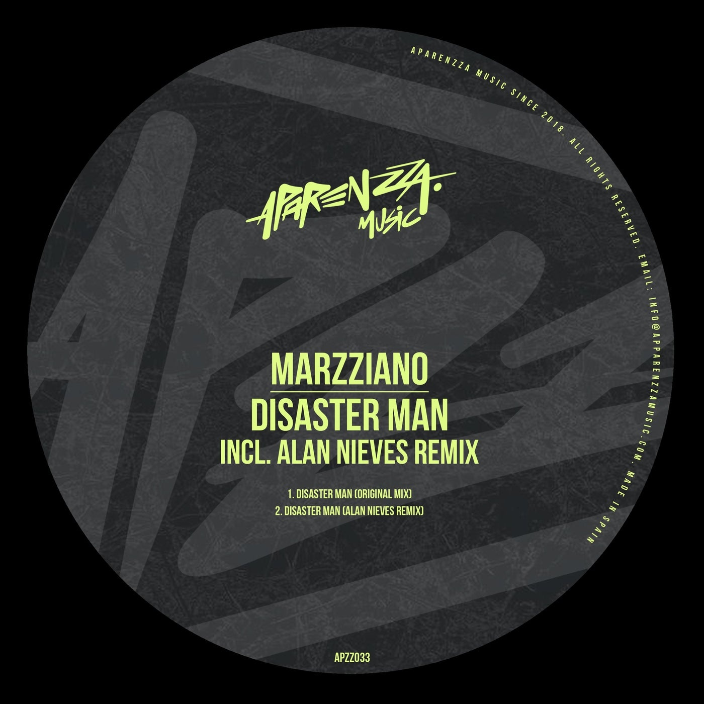Cover - Marzziano - Disaster Man (Original Mix)