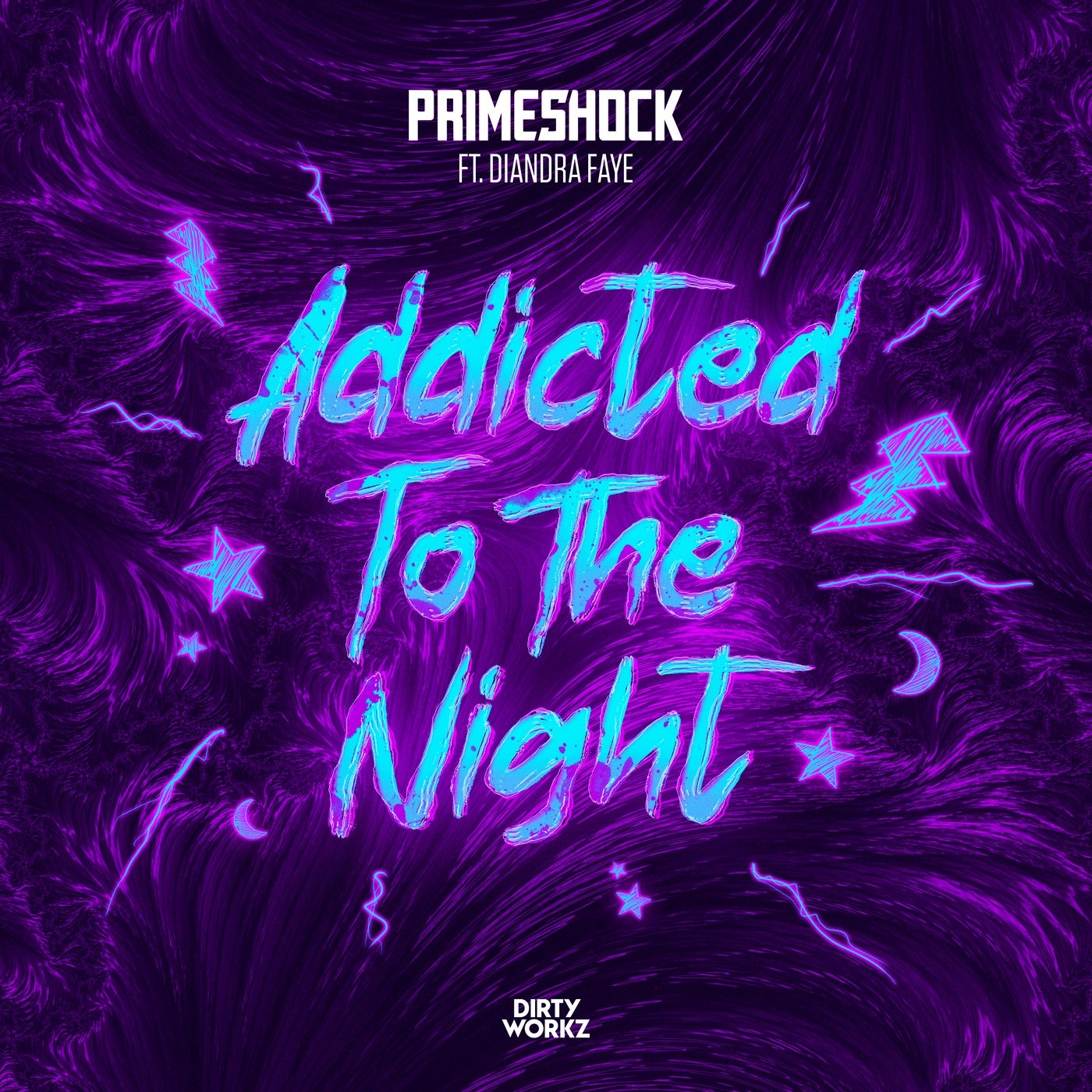 Cover - Primeshock, Diandra Faye - Addicted To The Night feat. Diandra Faye (Extended Mix)